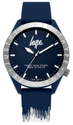 HYPE NAVY AND WHITE PAINT DRIP WATCH