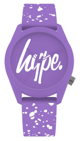 HYPE PURPLE AND WHITE SPECKLE SCRIPT WATCH