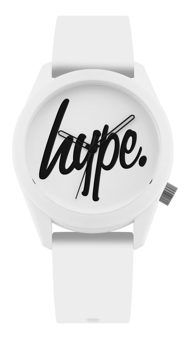 HYPE WHITE AND BLACK SCRIPT WATCH