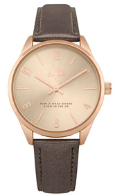 HYPE BROWN IRIDESCENT SCRIPT WATCH