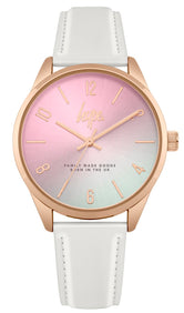 HYPE PINK IRIDESCENT SCRIPT WATCH