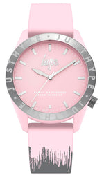 HYPE BABY PINK AND GREY PAINT DRIP KIDS WATCH