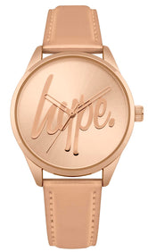 HYPE ROSE GOLD SCRIPT WATCH