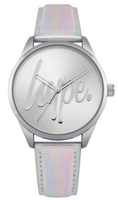 HYPE SILVER IRIDESCENT SCRIPT WATCH