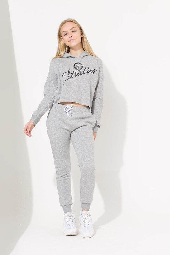 HYPE GREY STUDIOS CORE GIRLS CROP HOODIE