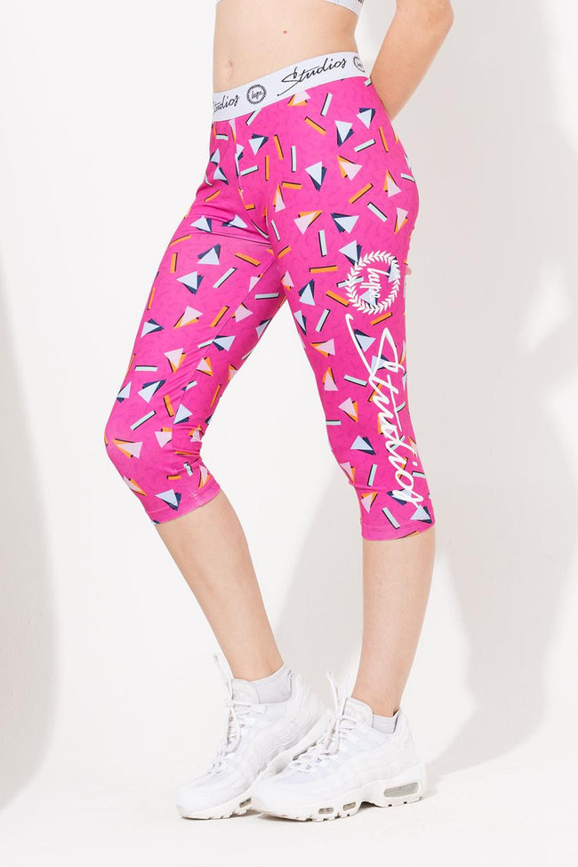 HYPE PINK STUDIOS ABSTRACT GIRLS LEGGINGS