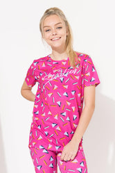 HYPE PINK STUDIOS ABSTRACT GIRLS T-SHIRT