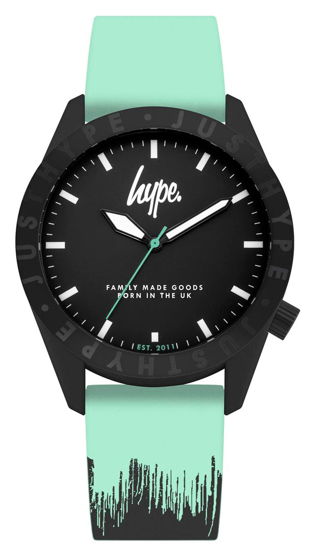 HYPE MINT AND BLACK PAINT DRIP WATCH
