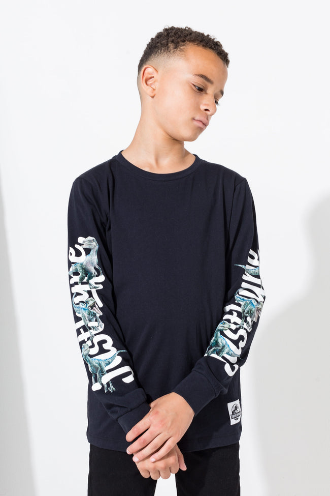 HYPE BLUE RAPTOR KIDS L/S T-SHIRT