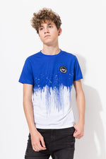 HYPE BLUE PAINT DRIP KIDS T-SHIRT