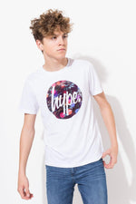 HYPE WHITE TREE LIGHT CIRCLE BOYS T-SHIRT