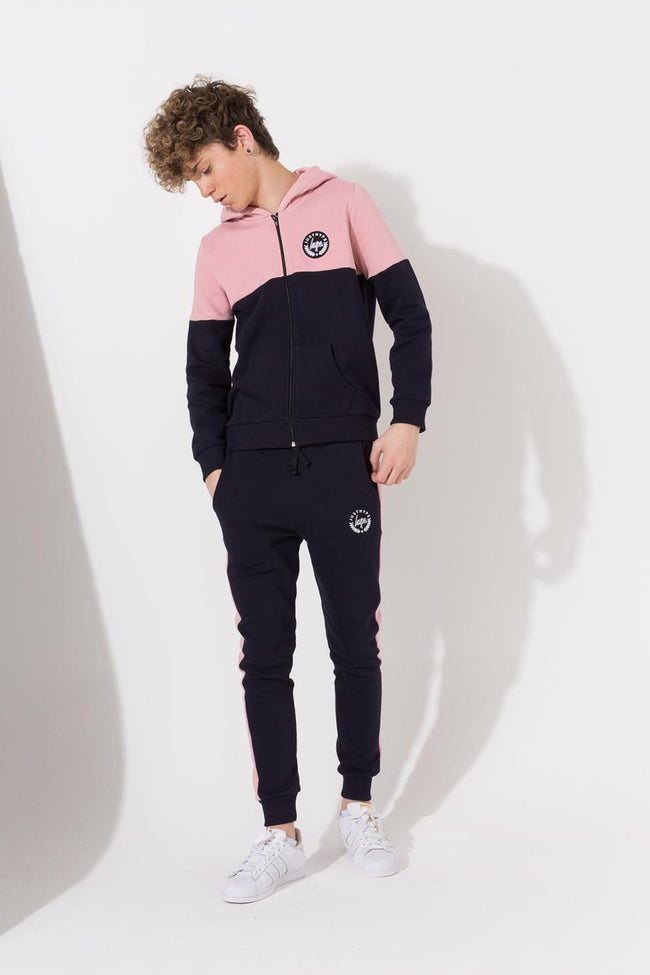 HYPE NAVY COLOURBLOCK CREST KIDS JOGGERS