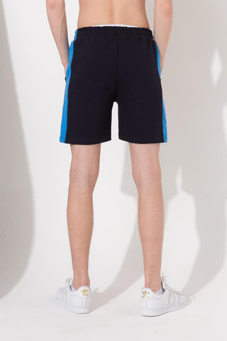 HYPE NAVY CREST PANEL KIDS SHORTS