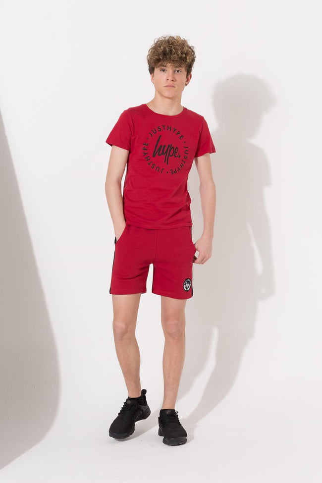 HYPE RED CREST PANEL KIDS SHORTS