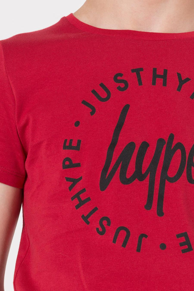 HYPE RED SCRIPT CIRCLE BOYS T-SHIRT