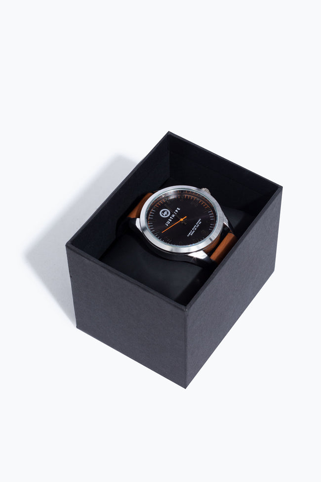 HYPE BROWN AND SILVER SUNRAY WATCH