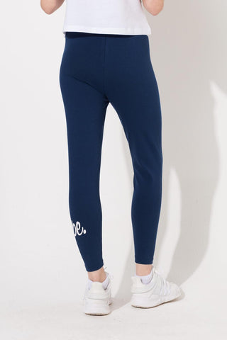 HYPE NAVY SCRIPT KIDS LEGGINGS