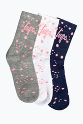 HYPE FADED SPECKLE GIFT BOX KIDS TRAINER SOCKS 3X PACK
