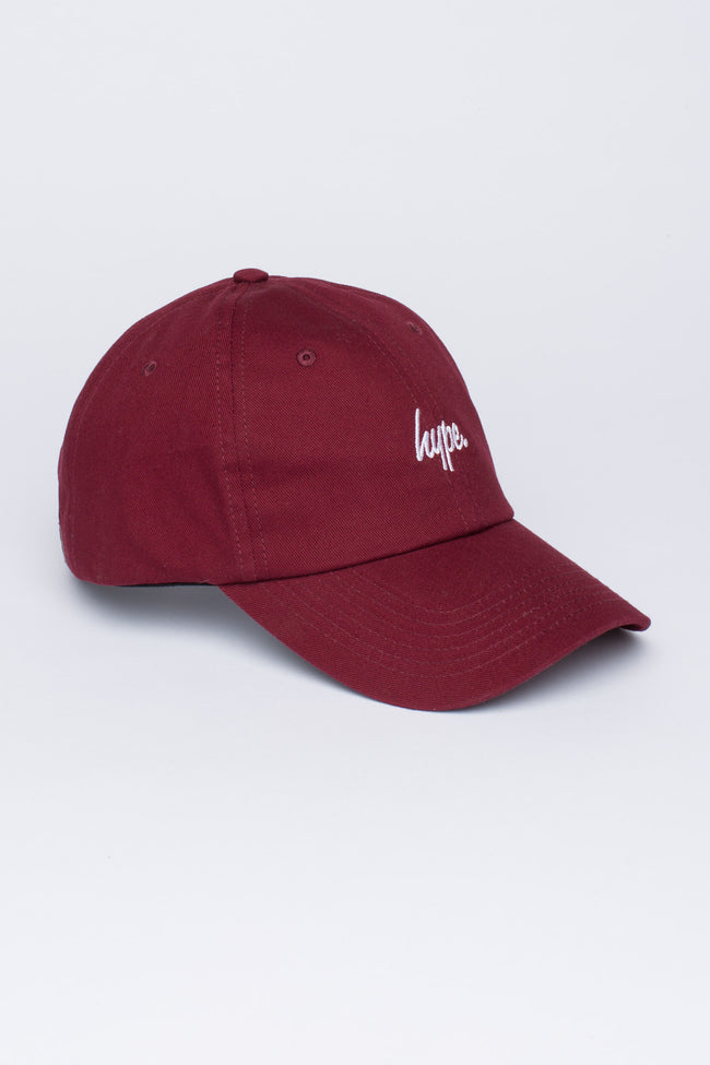 HYPE BURGUNDY SCRIPT DAD HAT