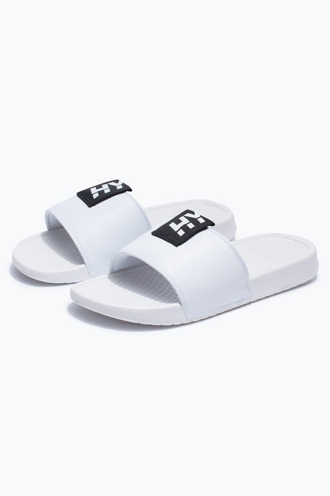 HYPE WHITE TAB KIDS SLIDERS