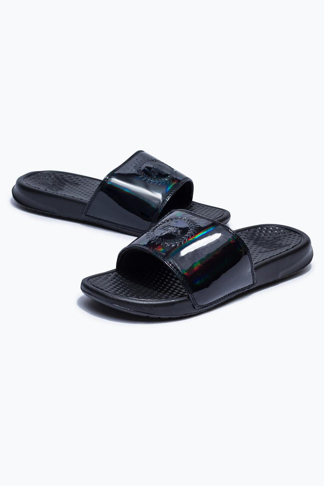 HYPE BLACK IRIDESCENT SLIDERS