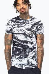 HYPE BLACK MONO TEXTURE MEN'S T-SHIRT