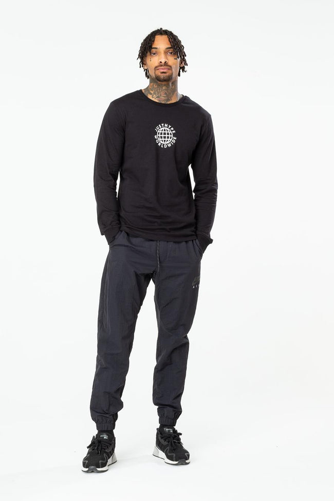 HYPE BLACK WORLDWIDE MEN'S L/S T-SHIRT
