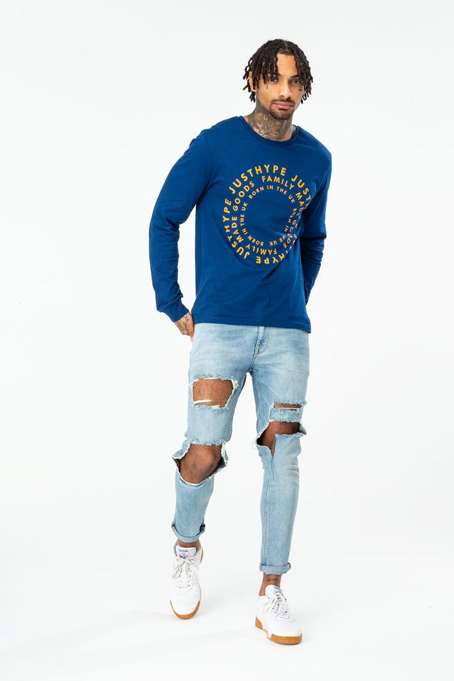 HYPE NAVY FMG CIRCLE MENS L/S T-SHIRT