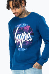HYPE NAVY CIRCLE LAYER MOUNTAINS MEN'S CREW