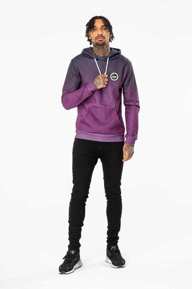 HYPE PURPLE SPECKLE FADE MENS PULLOVER HOODIE