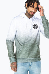 HYPE GREY SPECKLE FADE MEN'S PULLOVER HOODIE