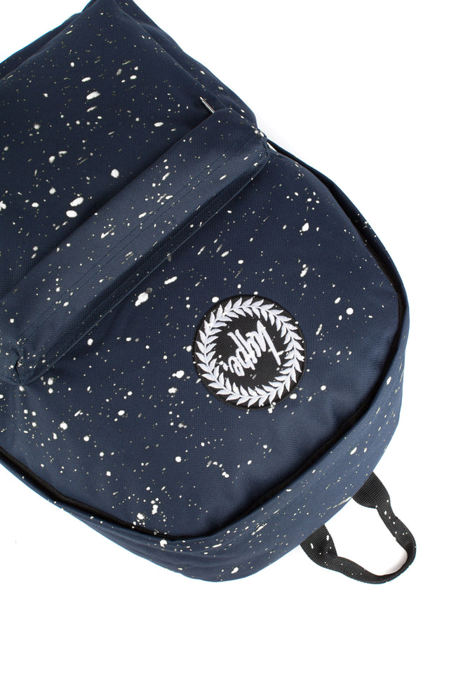 HYPE NAVY WITH WHITE SPECKLE BACKPACK