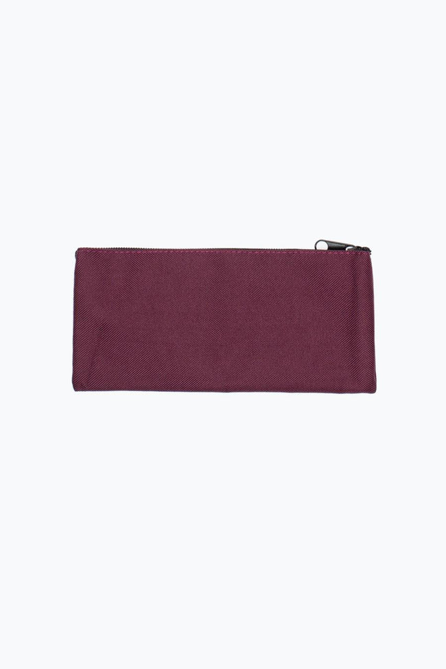HYPE BURGUNDY CREST PENCIL CASE