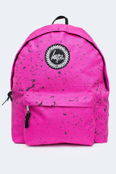HYPE PINK WITH BLACK SPECKLE BACKPACK