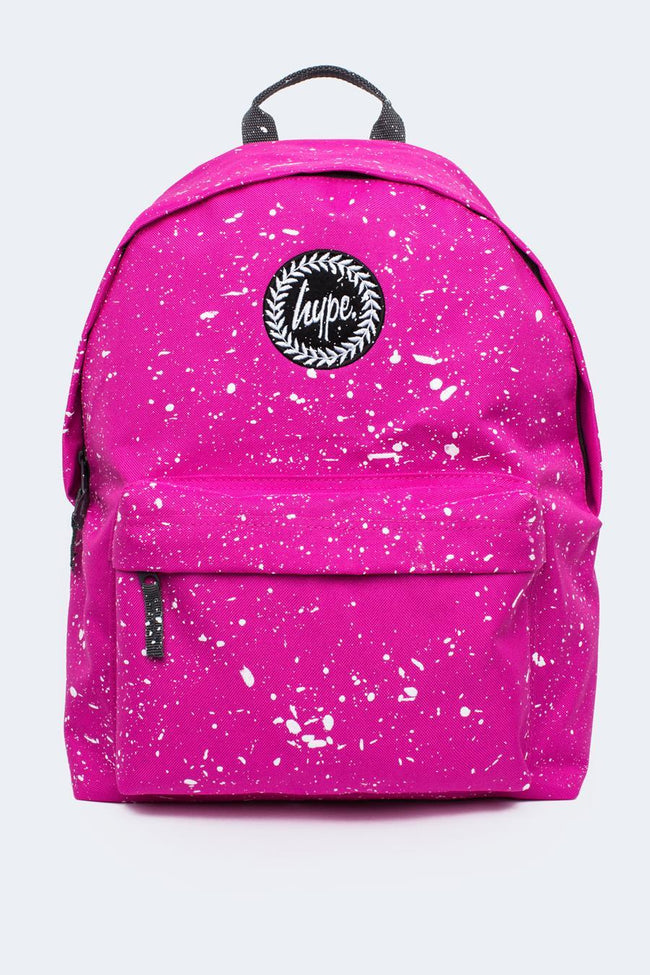 HYPE PINK WITH WHITE SPECKLE BACKPACK