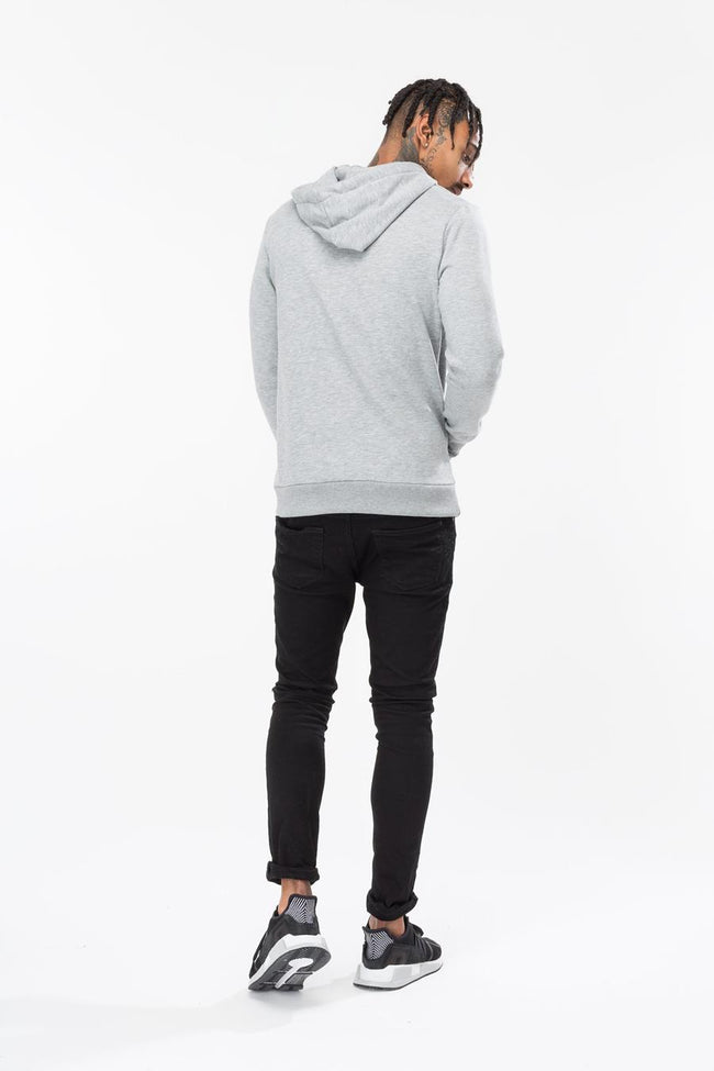 HYPE GREY ROSE SQUARE MENS PULLOVER HOODIE