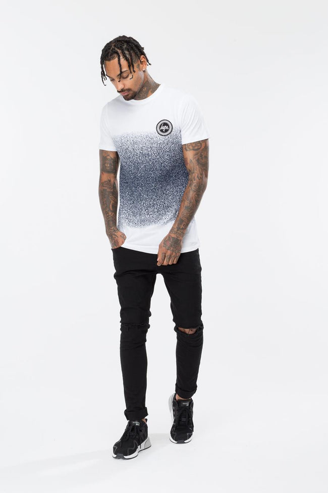 HYPE WHITE MID FADE MENS T-SHIRT