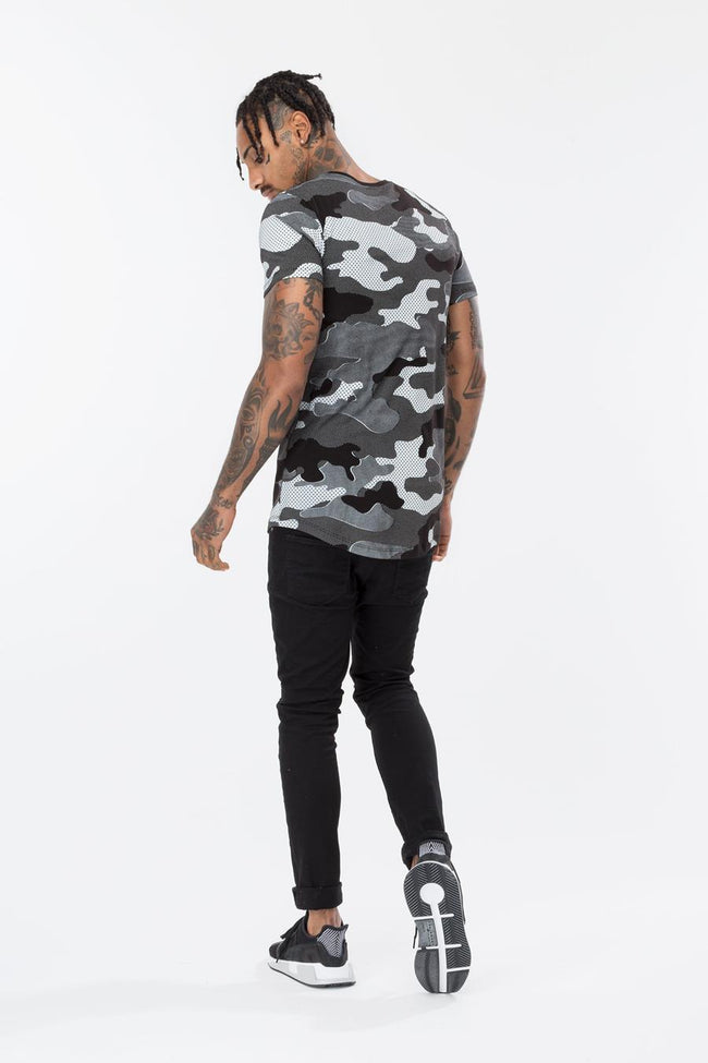 HYPE BLACK HALF-TONE CAMO MEN'S T-SHIRT