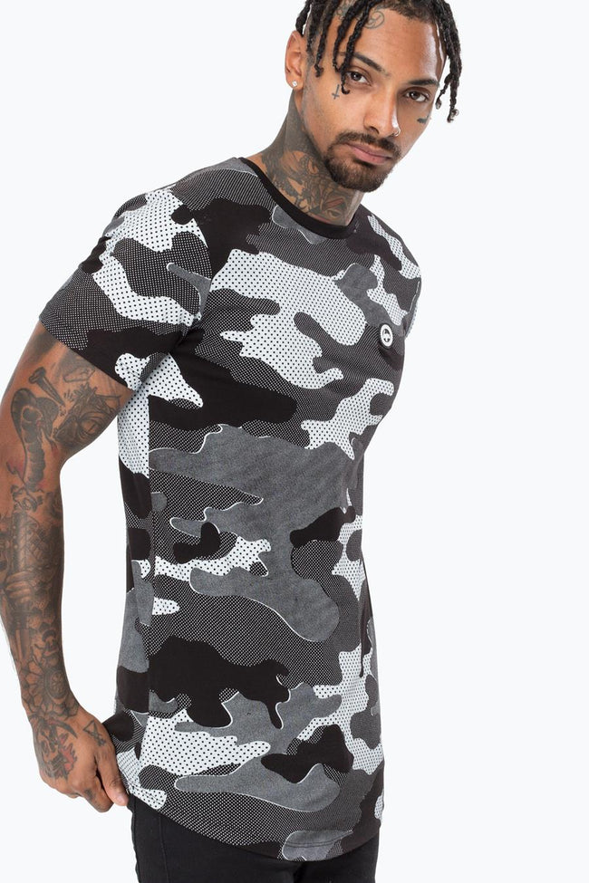 HYPE BLACK HALF-TONE CAMO MENS T-SHIRT