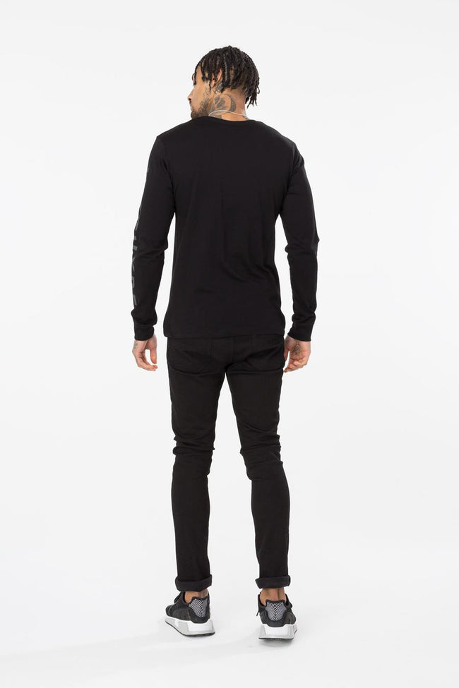 HYPE BLACK PATCHES MENS L/S T-SHIRT