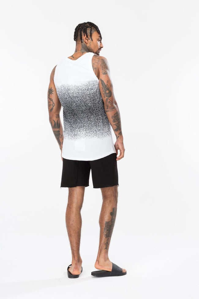HYPE WHITE MID FADE MEN'S VEST