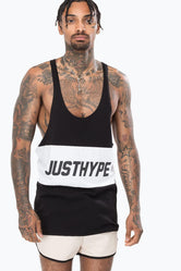 HYPE BLACK PANEL SPORTING MEN'S VEST