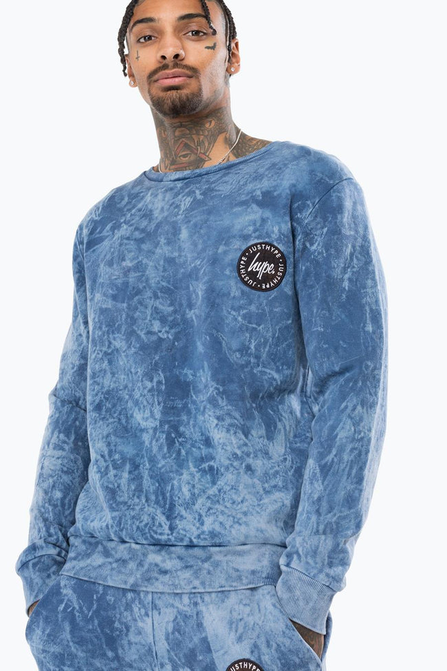 HYPE BLUE ACID CREST MENS CREW NECK