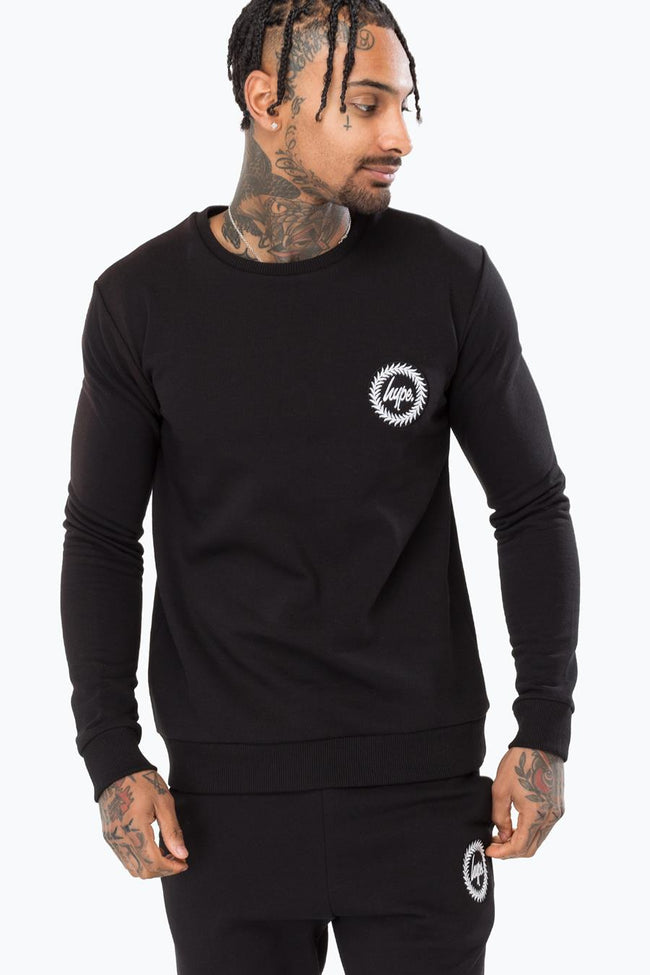 HYPE BLACK CREST MENS CREW NECK
