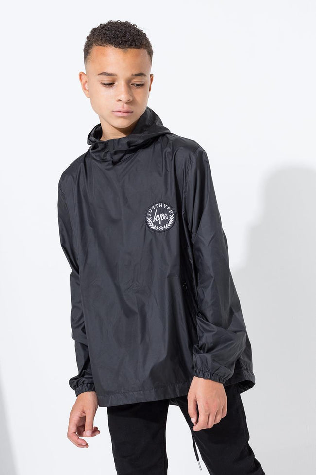 HYPE BLACK CREST KIDS FISHTAIL JACKET