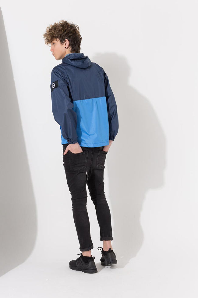 HYPE NAVY INSIGNIA PANEL REFLECTIVE KIDS ZIP JACKET