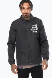 HYPE BLACK JH FAMILY MENS COACH JACKET