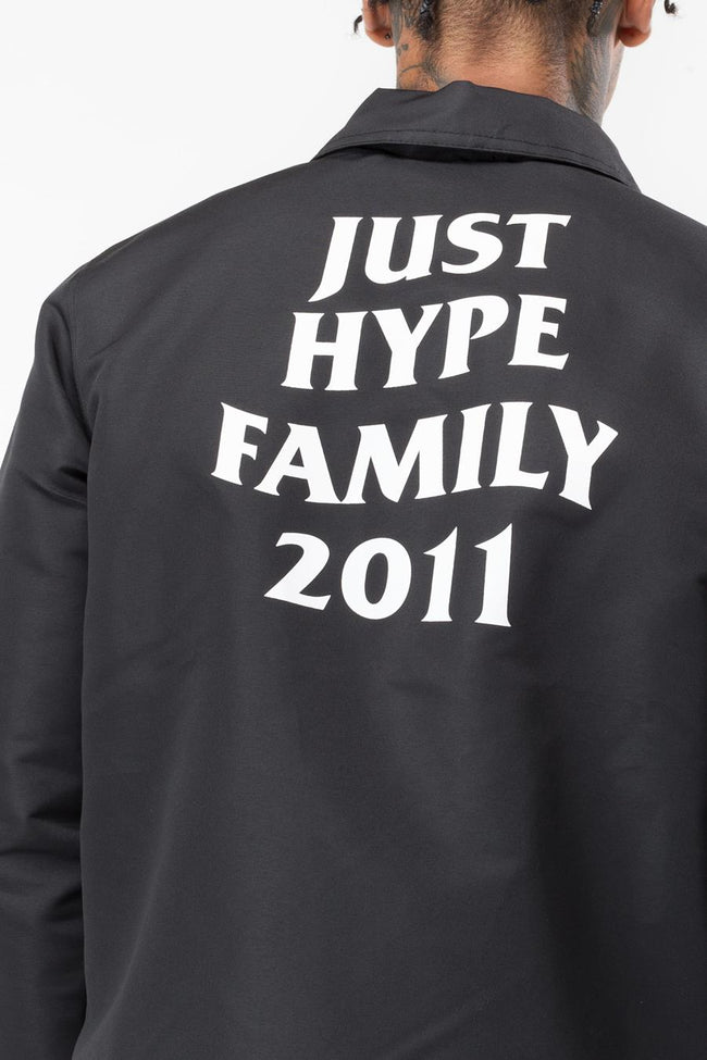 HYPE BLACK JH FAMILY MEN'S COACH JACKET