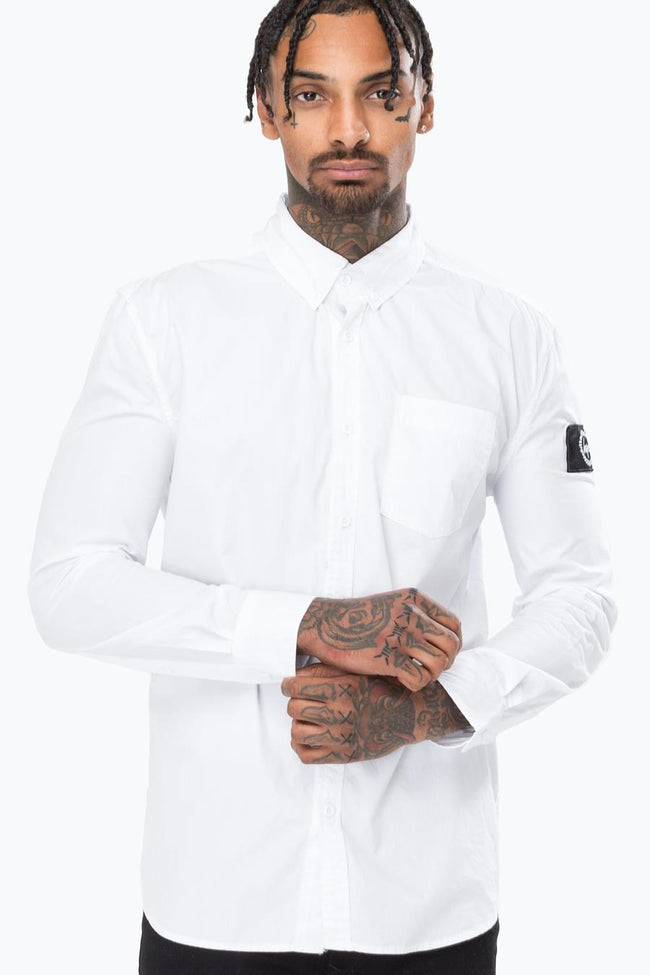HYPE WHITE INSIGNIA MEN'S L/S SHIRT