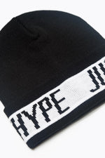 HYPE BLACK SPORTING BEANIE